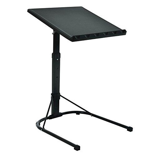 Plegable Negro Mesa para portátil con altura ajustable soporte de escritorio para ordenador portátil bandeja