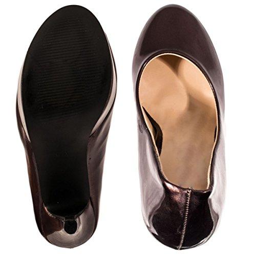 Elara Plateau Pumps   Moderne Damen High Heels   Stiletto Schuhe Braun Valé