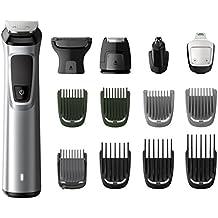 Philips MG7720/15 - Recortador de barba y precisión 14 en 1 tecnología Dualcut, autonomía de 120 minutos