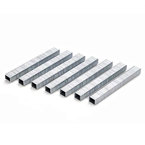 fggfgjg 1000 Stücke 1008J Türförmige Heftklammern 11,3 * 1,2mm Nägel Für Tacker Hefter (Silber)