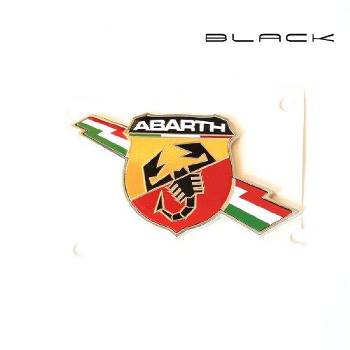 Black IT LATERSAETTA Logo Abarth IN Metall