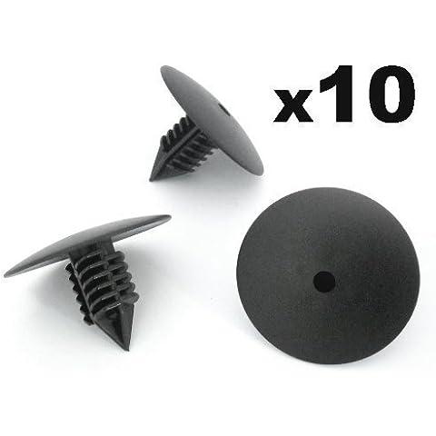 10x Renault Clips Para Paso De Rueda Guardabarros Cabeza 35mm Para Remaches Plásticos - Coche Grapas - Franqueo