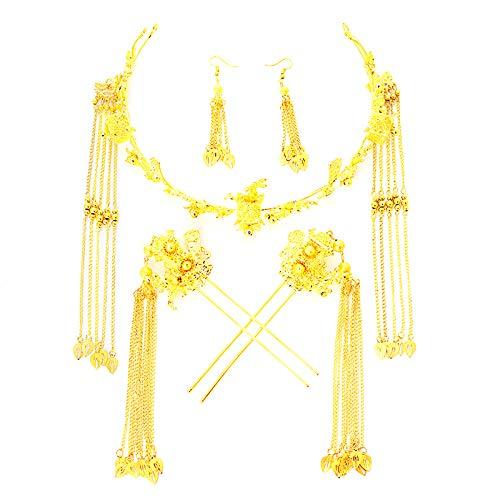 NEMACH Diadem Einfache Atmosphäre Prinzessin Braut Diadem Toast Kleidung Kostüm Brötchen (23,5 × 15,5 ()