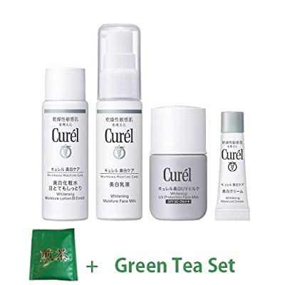 Kao Curel White Skin Care New Trial Kit‡VRich (Green Tea Set)
