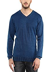 Spykar Mens Indigo Regular Fit Mid Rise Sweaters (Medium)