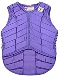 Chaleco Ecuestre Ropa Ecuestre Chaleco de Seguridad AD-050 Púrpura M