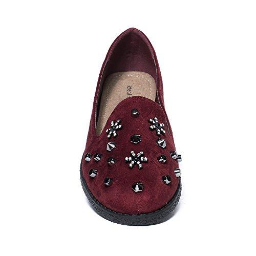Ideal Shoes, Mocassini donna Bordeaux