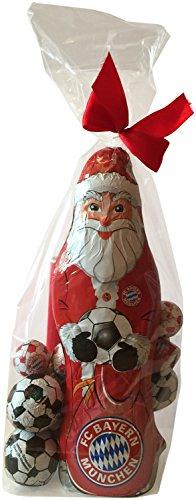 Preisvergleich Produktbild FC Bayern München Schoko Geschenk Set (XL Weihnachtsmann, Schokofussbälle, Team Schokolade, Massiv-Weihnachtsmänner)