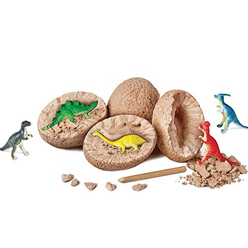 E-CHENG Dinosaur Eggs Break Open Unique Dinosaur Eggs and Discover Dig Kit