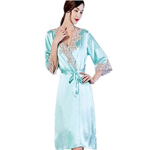 DMMSS Silk Pyjama Set Silk Sling Sleeve 2-Teiliges Set Heim Bademantel Damen m