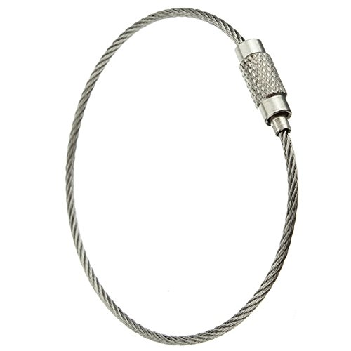 5pcs Stainless Steel Wire keychain Cable keyring Twist Barrel