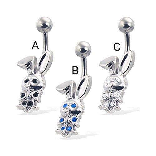 Jeweled Bunny (Bauchnabel Ring mit Jeweled Bunny)