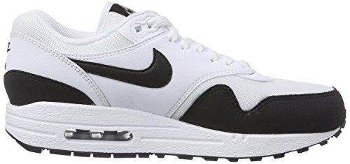 Nike Air Max 1 599820, Damen Laufschuhe Training Weiß (White/Black-Metallic Silver 115)