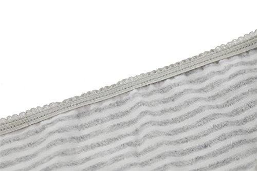 CharmLeaks Copricostume da donna, protezione solare, motivo a uncinetto strisce