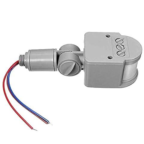 12m PIR Infrarouge Détecteur de Mouvement Capteur LED Extérieur RF