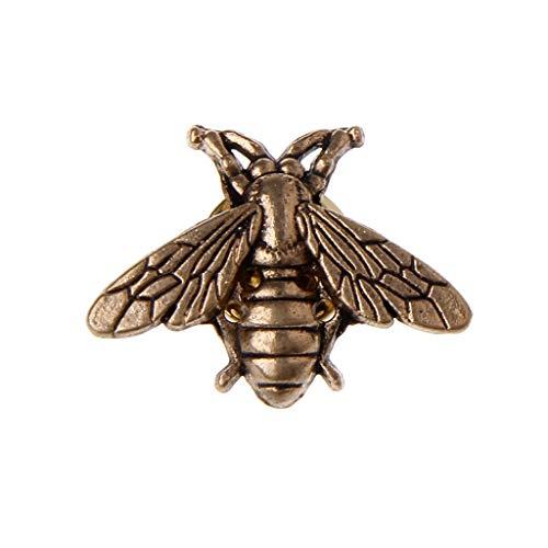 Designs Kleine Biene Kostüm - Kofun Brosche, Vintage Metall Bienen Pins Kleine Insekt Broschen Neuheit Für Anzug Weste Männlichen Schmuck Gold