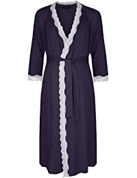 Radiance Dresssing Gown (Maternity & Breastfeeding) in Navy MEDIUM (UK 10-12)