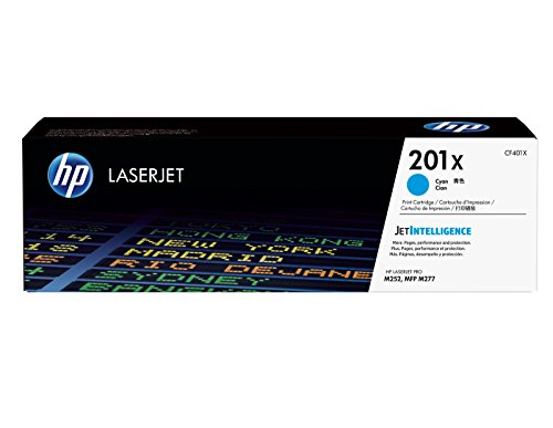 HP 201X (CF401X) Blau Original Toner mit hoher Reichweite für HP Color Laserjet Pro M252, M274n, M277
