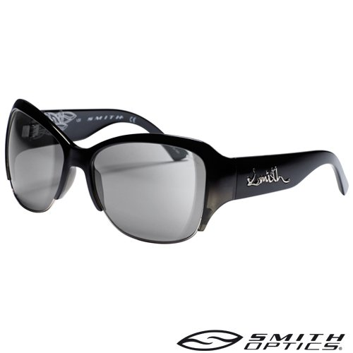 Smith Damen Sonnenbrille Lullaby, BKSHCRY SMKE black crystal shaded / grey flash silver