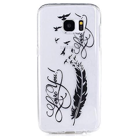 Meet de Slim de Protection Téléphone Case pour Samsung Galaxy S7 Edge (5,5 pouces) , Samsung Galaxy S7 Edge (5,5 pouces) Bumper Case Coque, (motifs peints) Samsung Galaxy S7 Edge (5,5 pouces) Slim TPU Transparent Silicone Housse Etui pour Samsung Galaxy S7 Edge (5,5 pouces) -