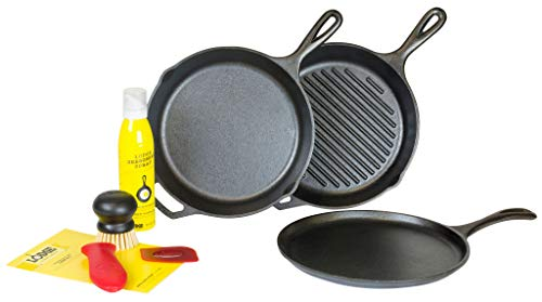 Lodge Gusseisen 7-teiliges Set Gourmet - Lodge Cast Iron Grill