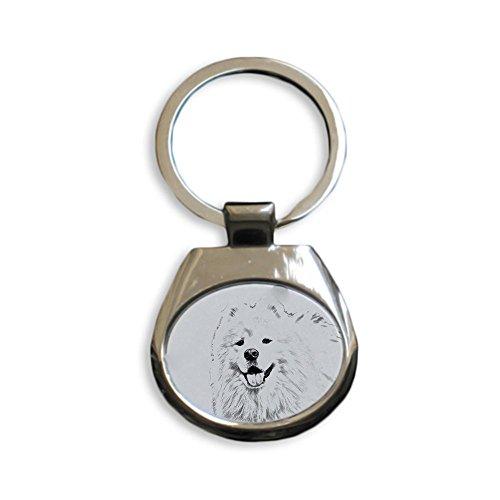 ArtDog Ltd. Samojeden, Schlüsselringe mit reinrassigen Hunden, einzigartiges Geschenk, Sublimation -