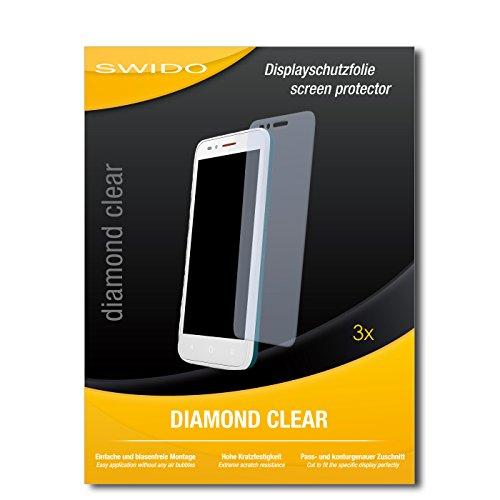 SWIDO 3 x Schutzfolie Alcatel One Touch Go Play Bildschirmschutz Folie DiamondClear unsichtbar