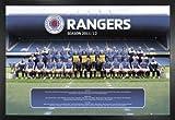 Fußball Poster und MDF-Rahmen - Glasgow Rangers,