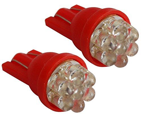 AERZETIX 2x ampoule T10 W5W 12V 7LED rouge veilleuses éclairage intérieur seuils de porte plafonnier pieds lecteur de carte coffre compartiment moteur