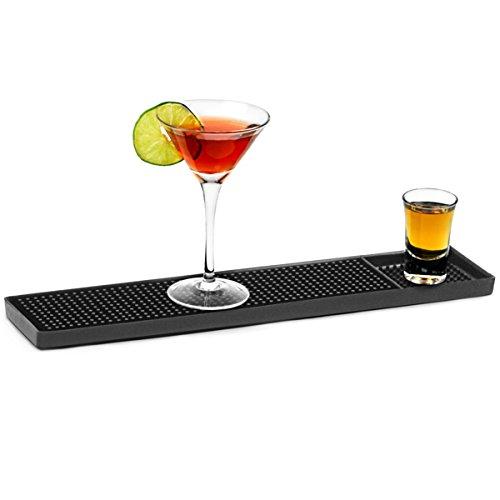 bar@drinkstuff Gummistabmatte 38,1cm, Barschienenläufer für Gläser