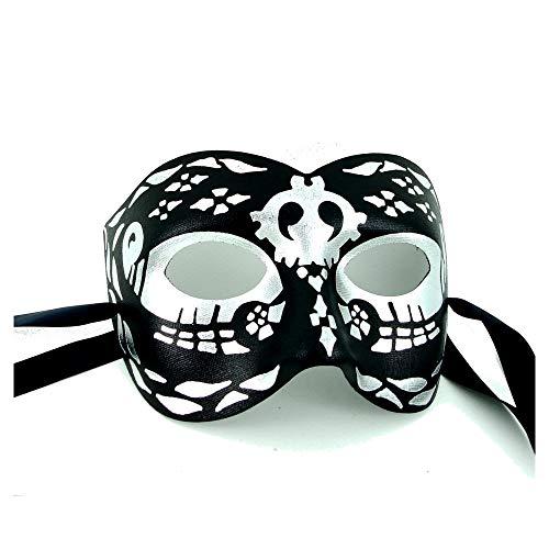 Day of the Dead-Maske-Hochwertige italienische Produktion Herren ()