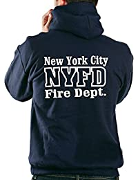"'Sweat-shirt à capuche for Working–avec ""343Maltese Cross–New York City Fire Department"