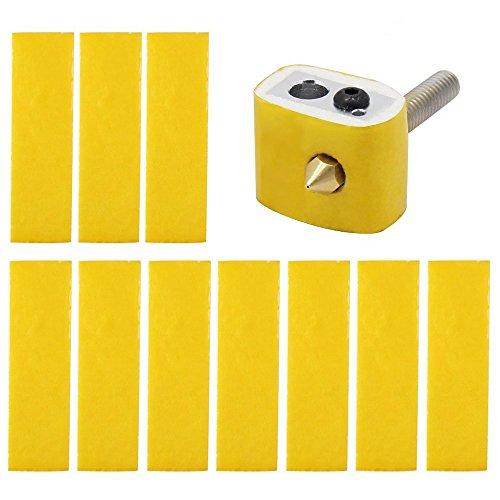 TOOGOO 20Pcs bloc chauffant coton pour MK8 Makerbot Reprap imprimante 3D isolation thermique de la buse d'extremite chaude
