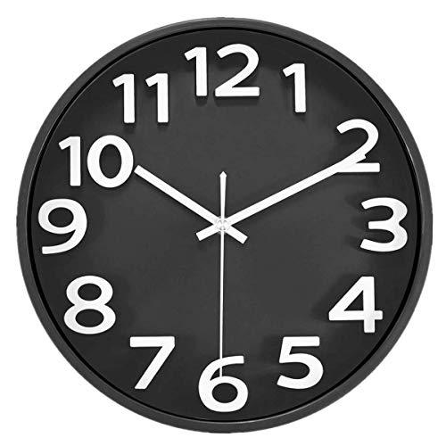 XYQY Reloj de Pared Negro
