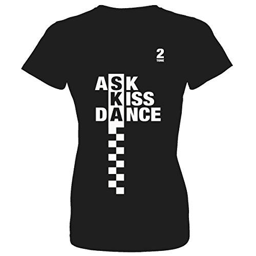 2 Tone Ask Kiss Dance Womens T Shirt