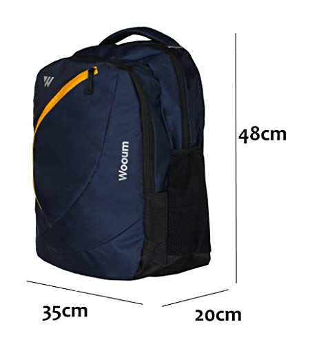 Wooum Navy Blue Light Weight 15.6 inch Casual Laptop Backpack 34 ltrs Bag Image 2