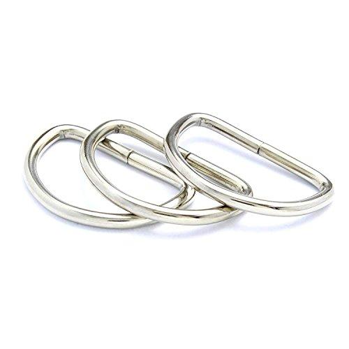 Smirk Sumer D-Ringe Schnallen für Gurtband, Taschen und Handtaschen, 30 mm, 10 Stück 30mm-10pc - Schnalle Handtasche Tasche