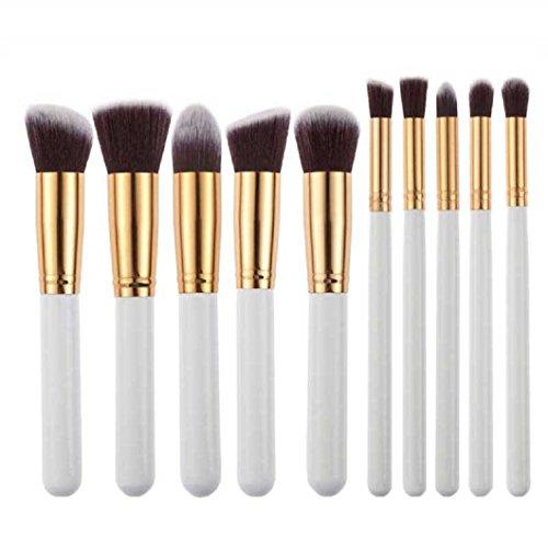 Make-up Pinsel Set Kolylong Make Up Foundation Kosmetik Pinsel Set 10pcs Puder Augen Schatten...