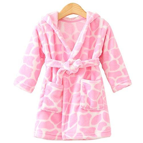 Fancyus - Albornoz - para niña Rosa Pink Cow