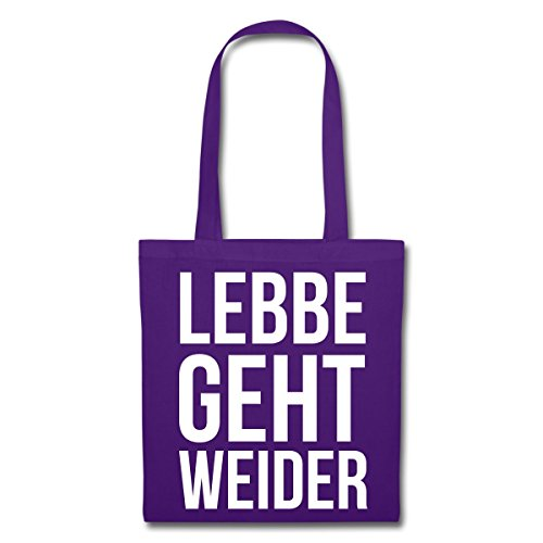 Spreadshirt Lebbe Geht Weider Hessisch Stoffbeutel Lila