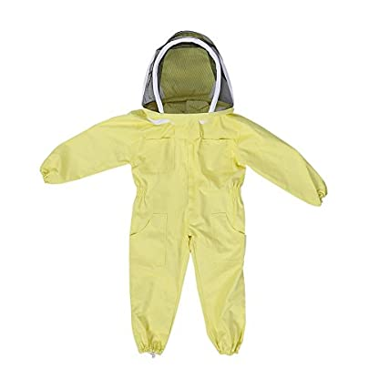 Zerodis Beekeeping Suit with Veil Protective Bee Suit for Kids,Professional Beekeeping Jumpsuit Bee Visitor Cotton Long Sleeve Children Protection Bee Keeping Supplies(M) 1