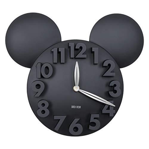 Sanch Ancha Digitale Quarz-Wanduhr Mickey Minne Maus Cartoon-Wanduhr, 30,5 cm, leise, große 3D-Zahlen, batteriebetrieben, Moderne Dekoration für Kinderzimmer, Wohnzimmer, Büro, Küche