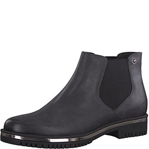 Tamaris Damen Chelsea Boots 25496-31,Frauen Stiefel,Halbstiefel,Stiefelette ,Bootie,Schlupfstiefel,flach,Blockabsatz 3.5cm,Anthracite,EU 41 be1c8f29cb