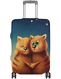 Preisvergleich für COOSUN Red Cats In Love Print-Reise-Gepäck Schutzabdeckungen Waschbar Spandex Gepäck Koffer Cover - Passend für...