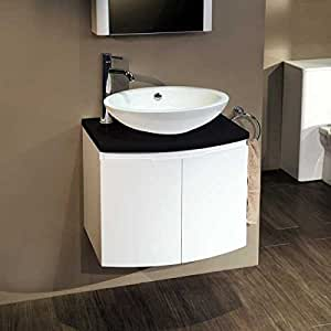schiff 600 waschkommode mit waschbecken f r g ste wc. Black Bedroom Furniture Sets. Home Design Ideas