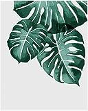 JJH DIY malen nach Zahlen Pflanze Blatt Landschaft Farbe leinwand Bild ölgemälde färbung by Zahlen handgemalte Moderne wohnkultur 40x50 cm rahmenlose