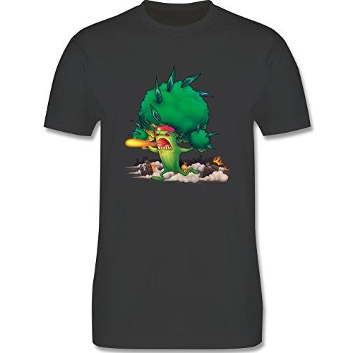 Comic Shirts - Brokkoli Monster - Herren Premium T-Shirt Dunkelgrau