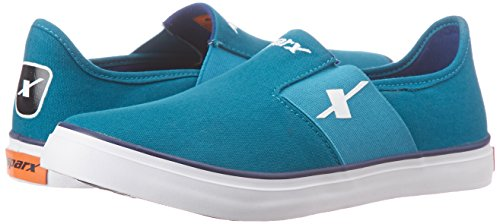 5. Sparx Men's Sea Green and Royal Blue Loafers