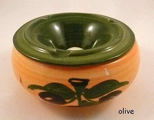 Wasseraschenbecher mit Deckel, Olive P
