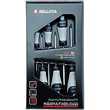 Bellota 66291-ELEC - Pack de 6 destornilladores para electricista